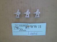20mm ( 1/76 ) Scale It Figures Wwii German Infantry Throwing Grenades