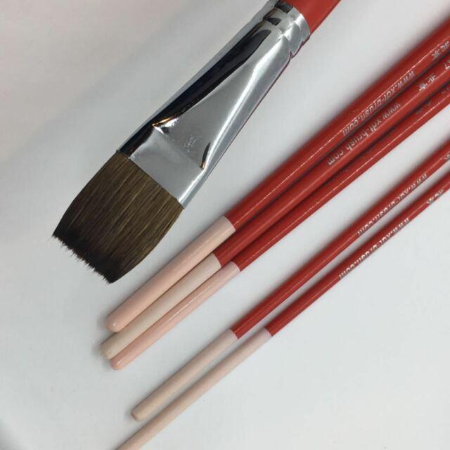 Paint Wood Brush Professional Sable Hairs Detail Miniature Art Nail Brushes #s