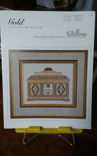 Vtg cross stitch charts only Victoria Sampler Gifts of the Magi Gold Christmas