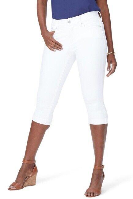 NYDJ NWOT Women's Size 4 White Marilyn Crop Jeans A1