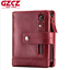 Unisex-Genuine-Leather-Cowhide-Wallet-Trifold-Credit-Card-ID-Holder-Zip-Purse thumbnail 13