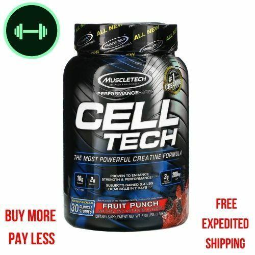 Muscletech, Performance Series, CELL-TECH,   Fruit Punch, 3.00 lbs (1.36 kg)