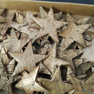 60 Birkensterne 4cm Sterne Gold Birke Streuteile Tischdekoration