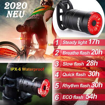 Fahrrad Lampe Rücklicht Bremsinduktion Licht LED Beleuchtung IPx6 USB Bremslicht