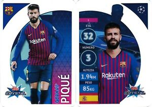 TOPPS-CRYSTAL-UEFA-CHAMPIONS-LEAGUE-2018-2019-dal-001-al-125-LIMITED-EDITION