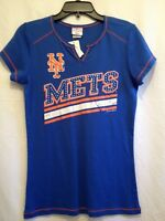 Nbl York Mets Shirt Women's Jr Large Bust 32 Length 27 With Rhinestones