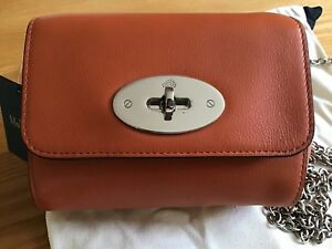 c4dcc565a0 ... coupon code image is loading mulberry mini lily cross body bag in  pumpkin 19d54 00a5c ...