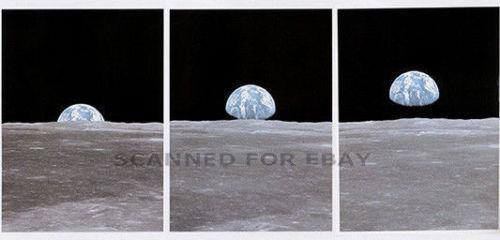 Earthrise PHOTO SET moon NASA Inspirational print picture image photographs