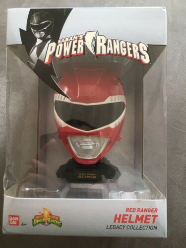 neuf jouet bandai saban/'s power rangers red ranger helmet legacy collection