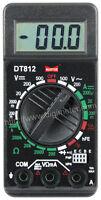 Dt812 - Digital Vom - Handheld Volt, Ohm, Milliamp - Multimeter With Test Leads