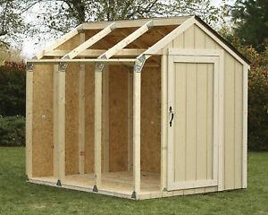 2x4basics 90192 Wood Shed Kit With Peak Roof