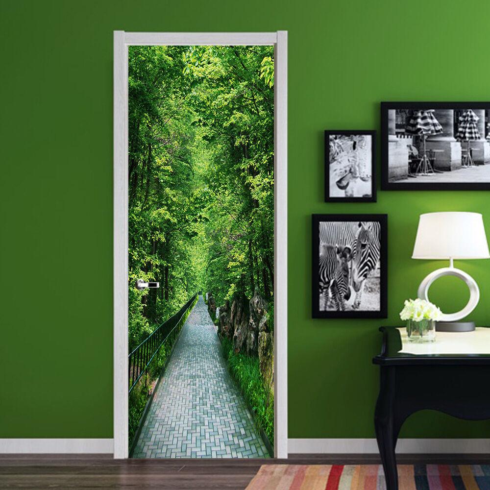 3D Wald 732 Tür Wandmalerei Wandaufkleber Aufkleber AJ WALLPAPER DE Kyra