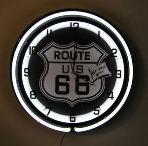 Route-66-Get-Your-Kicks-Large-Sign-Neon-Clock