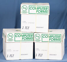 Computer Forms 2500 Continuous 5 Ream Dot Matrix Tractor Feed Paper 95x11 White