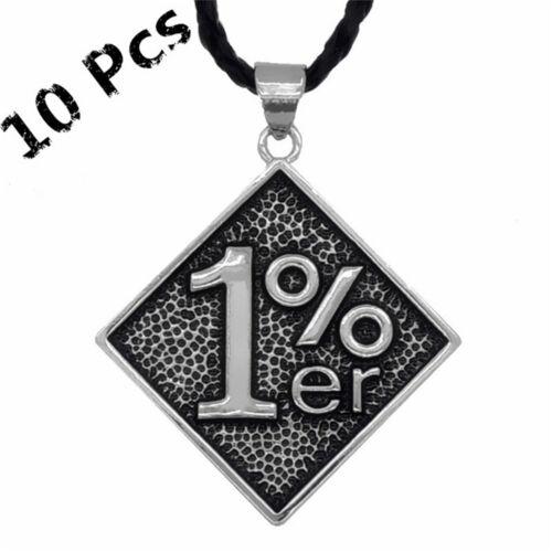 Wholesale 10 pcs 1/% ER Motorcycle Outlaw Biker Men/'s Pendant Black Necklace