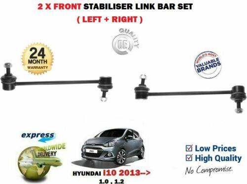 FOR HYUNDAI i10 2013-/>NEW 2X FRONT LEFT RIGHT STABILISER SWAY LINK BAR SET