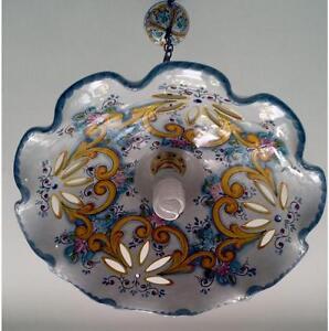 Lampadario Ceramica Di Vietri.Lampadario Cucina Decorato In Ceramica Di Vietri D 47cm E