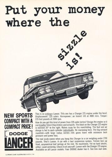 1961 Dodge Lancer Sports Classic Vintage Advertisement Ad A83-B