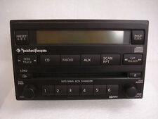 NISSAN Xterra Frontier Rockford Fosgate Radio 6 Disc Changer MP3 CD Player AUX