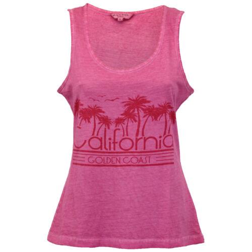 Ladies Burnout Vest Brave Soul Womens PalmTree Print Beach Summer New