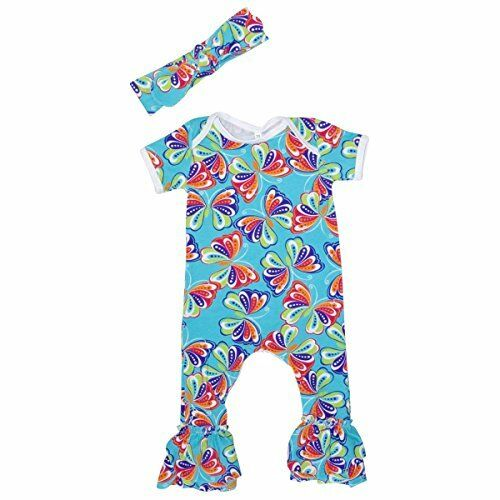 Headband Outfits USA Newborn Baby Girl Clothes Flower Jumpsuit Romper Bodysuit