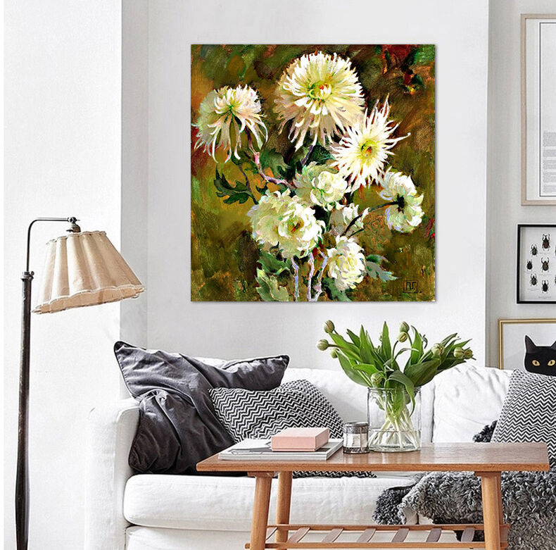 3D Chrysanthemen 623 Fototapeten Wandbild BildTapete Familie AJSTORE DE Lemon