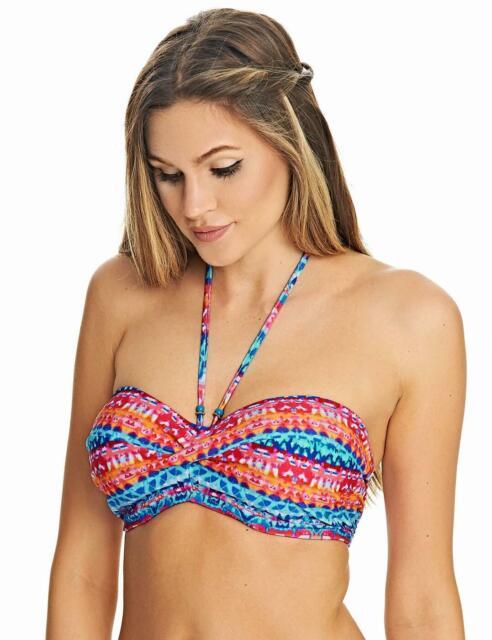 Fantasie Fiji Underwired Twist Bandeau Strapless Bikini Top 6541 New Swimwear