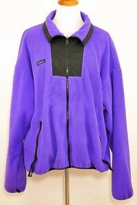 8e114134e0f1a9 VINTAGE COLUMBIA Women s XL - PURPLE   BLACK FLEECE JACKET Full Zip ...