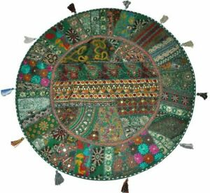 Art-Embroidery-Patch-Work-Meditation-Floor-Euro-sham-Pillow-Cover-Solid-Cushion
