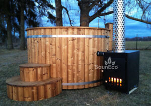 Wood Fired Whirlpool Wood Burning Garden Spa Log Fired Hot Tub Wooden Jacuzzi - Germany, Deutschland - Wood Fired Whirlpool Wood Burning Garden Spa Log Fired Hot Tub Wooden Jacuzzi - Germany, Deutschland