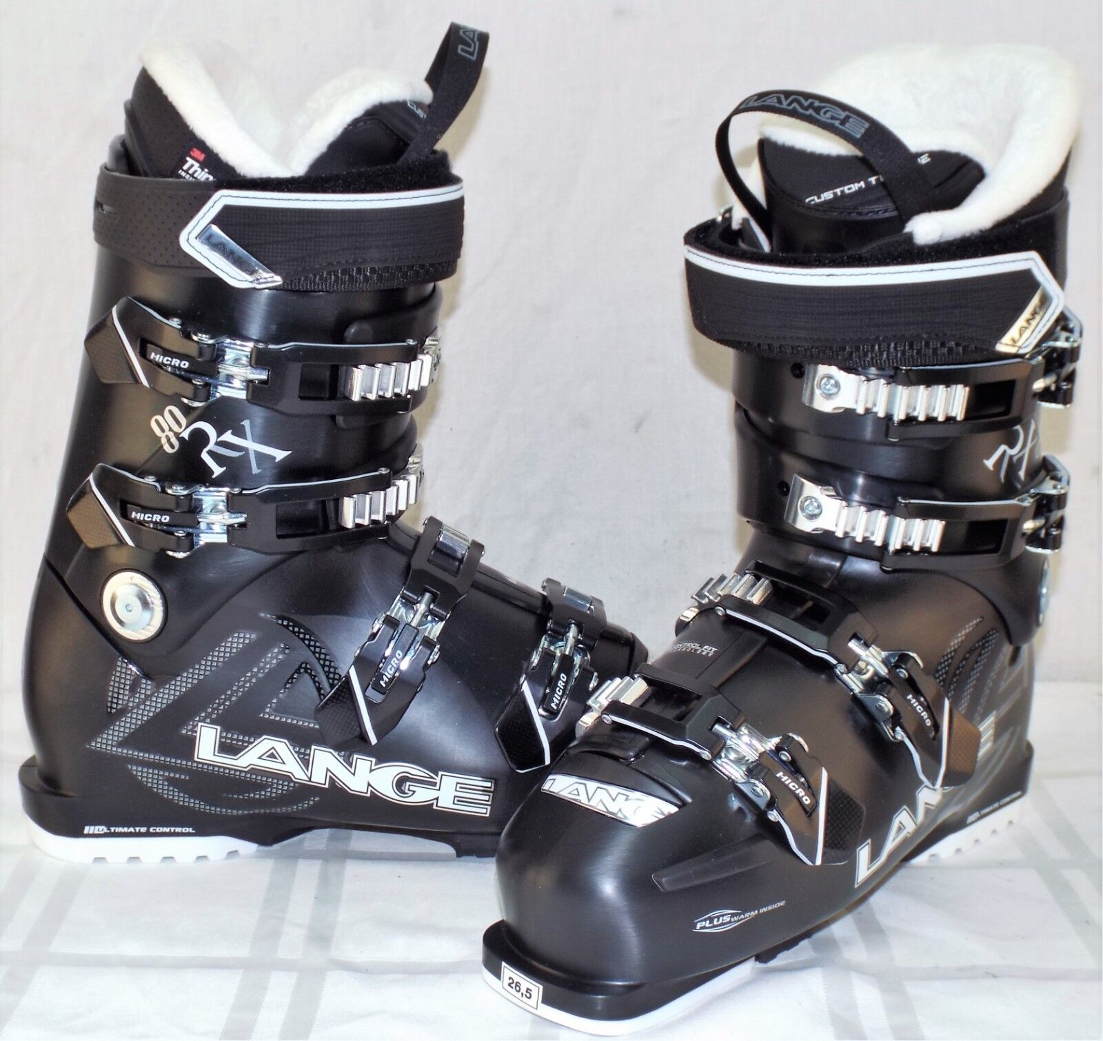 Lange RX 80 New Women's Ski Boots Size 26.5