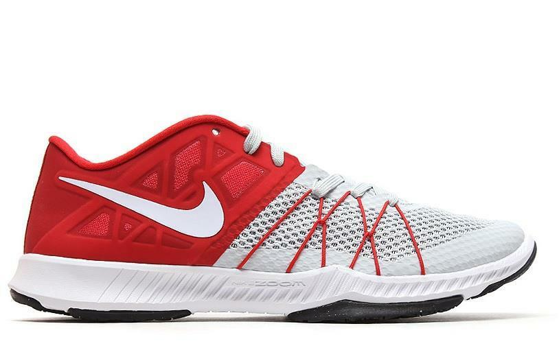 NIKE ZOOM AIR TRAIN INCREDIBLY FAST FAST FAST 844803 601 UNIVERSITY RED WHITE GREY a95e4e