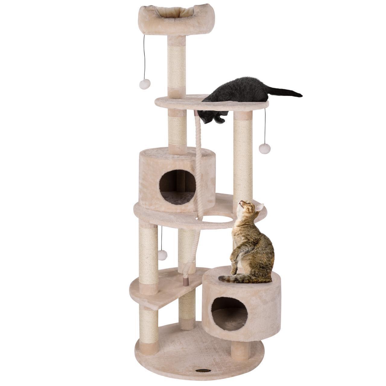 Happypet ® Tiragraffi Tiragraffi per gatti arrampicarsi Sisal dimensioni medie TONDO 170cm Beige