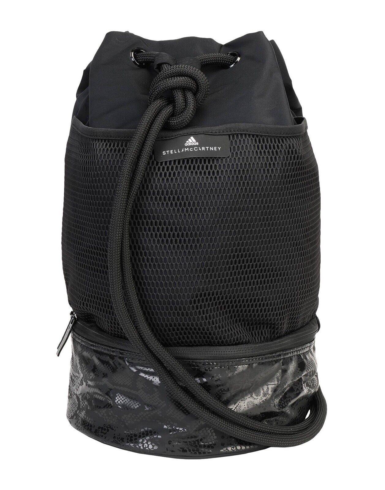 Stella McCartney x Adidas Black Gym Sack Athleisure Boxing Backpack Shoulder Bag