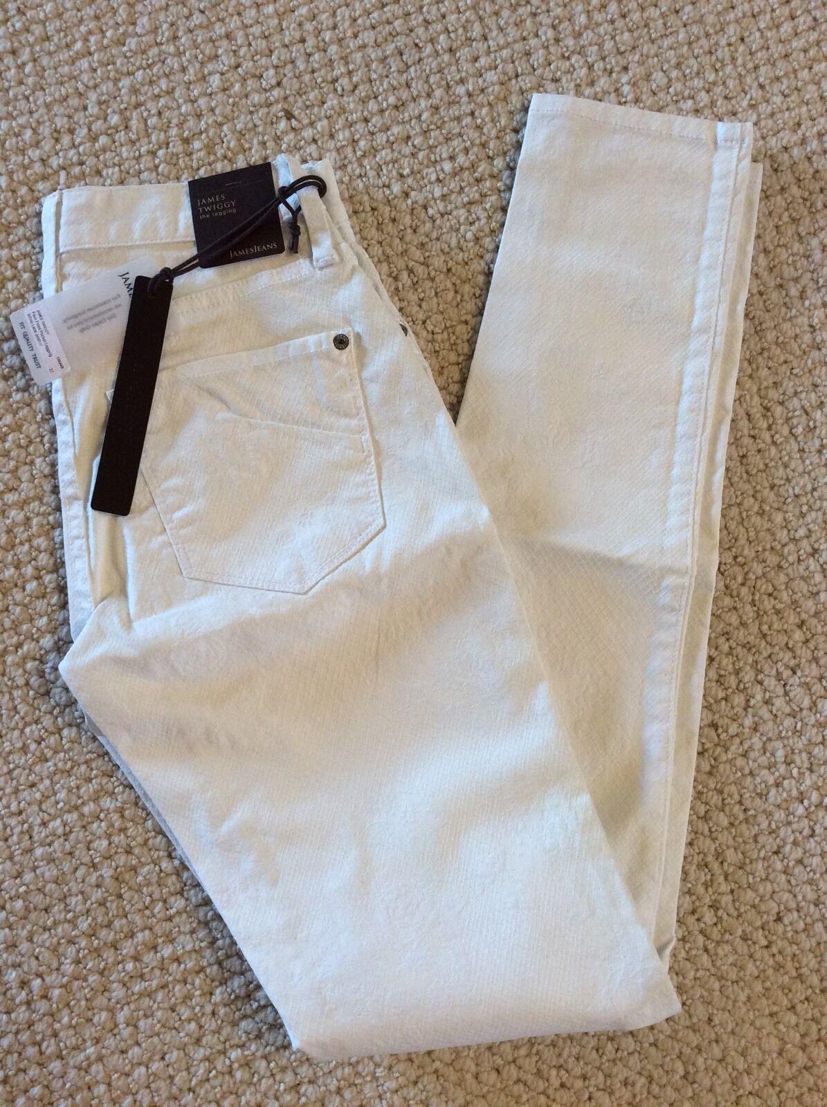 NWT James Jeans 13644B White Lace Twiggy 27  195+