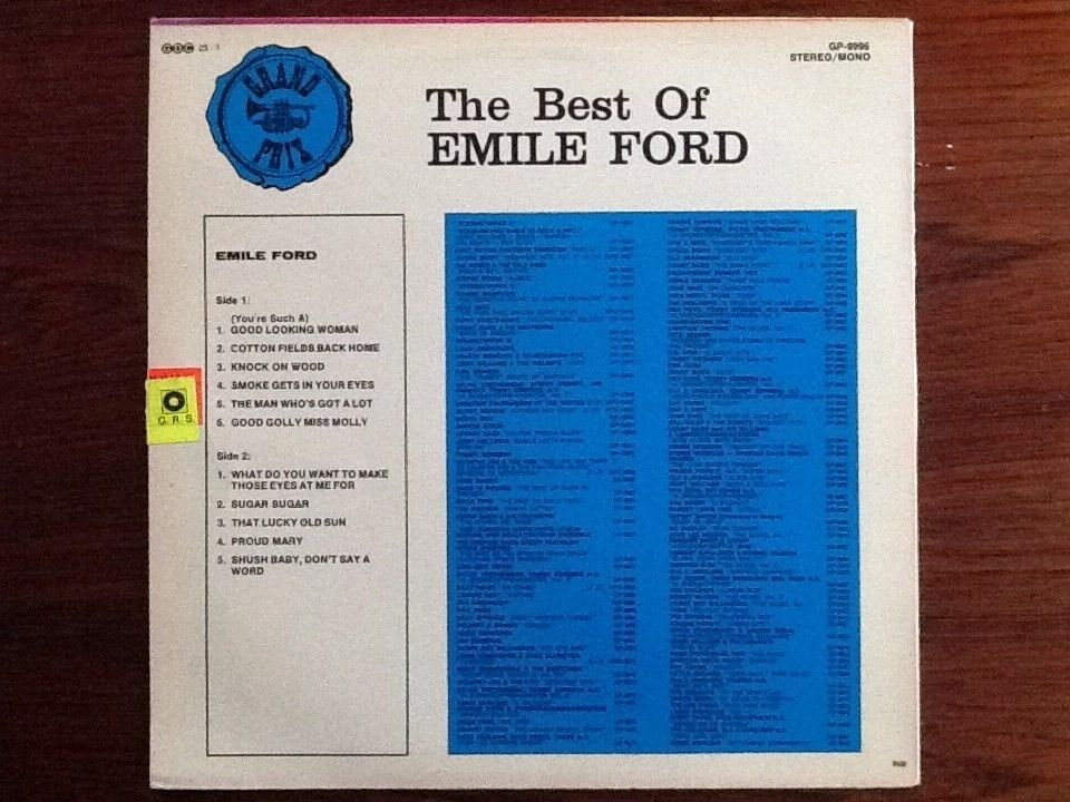 LP, Emile Ford, The Best of Emile Ford