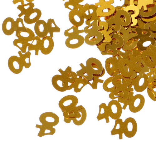 Golden Table Confetti Scatter Number Confetti Sprinkles Party Decoration