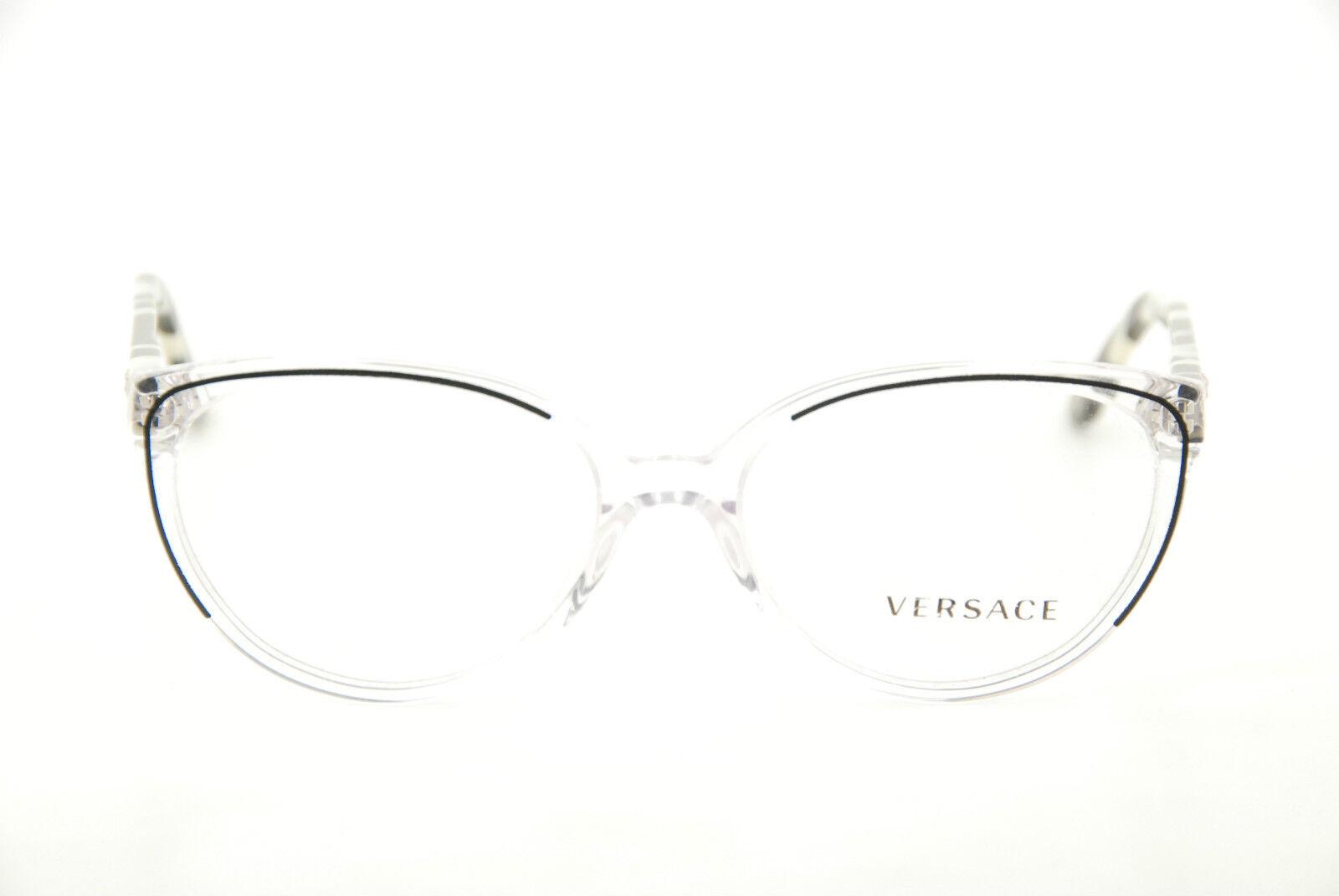 56d165a25f1d2 Authentic Versace Mod 3157 960 Black clear 54mm Frames Eyeglasses RX ...