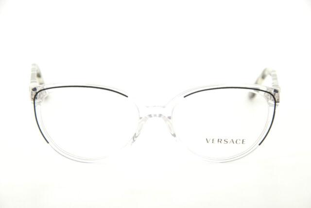 5d94227db7 NEW Authentic VERSACE Mod. 3246-B GB1 Shiny Black Cat-Eye 52mm RX ...