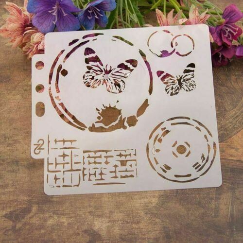 9Pc DIY Layering Embossing Stencil Template For Wall Painting Scrapbooking Stamp