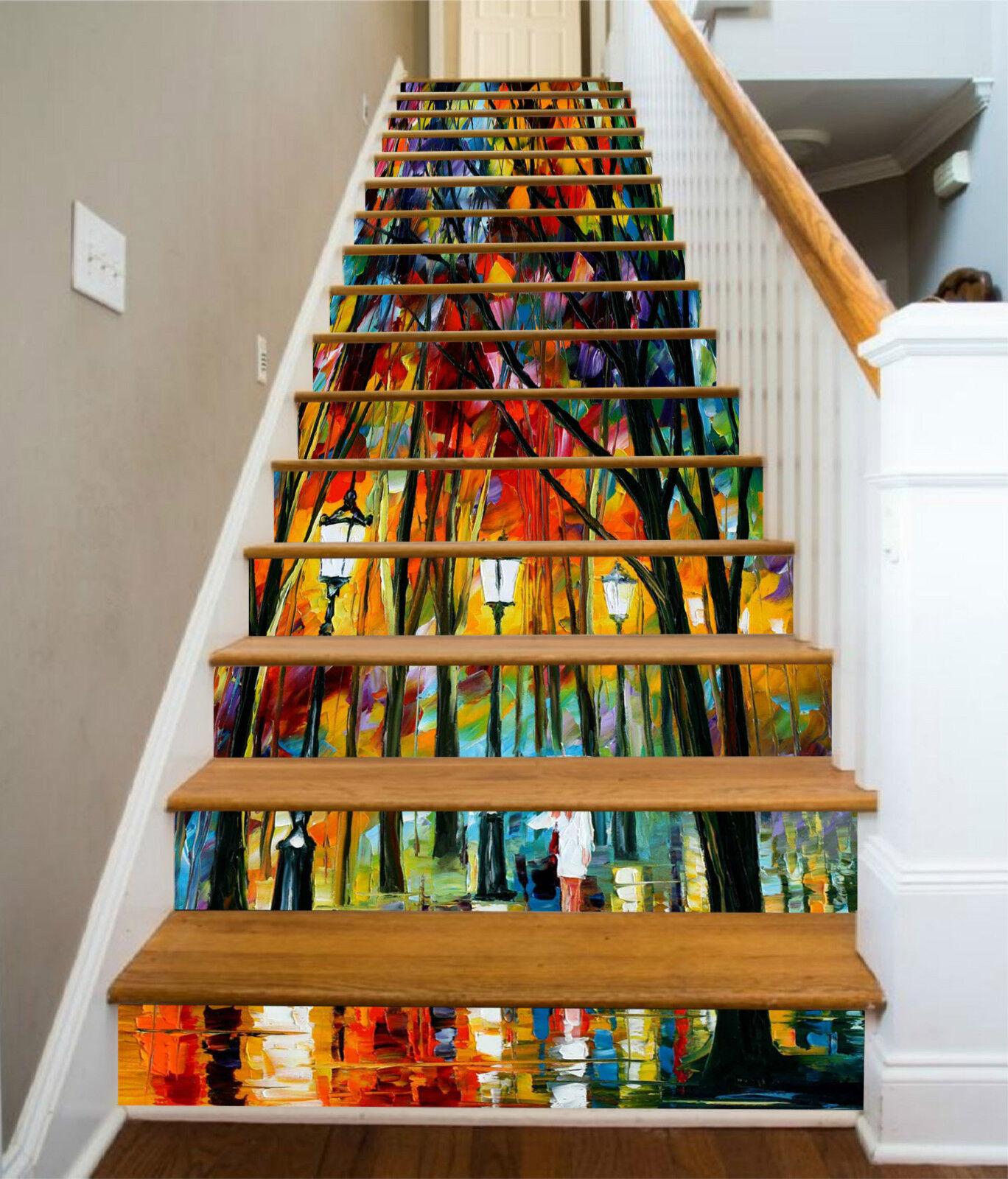 3D Licht Straße 326 Stair Risers Dekoration Fototapete Vinyl Aufkleber Tapete DE