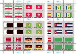 UNO-New-York-Flaggenboegen-1988-Michelnummer-553-568-postfrisch