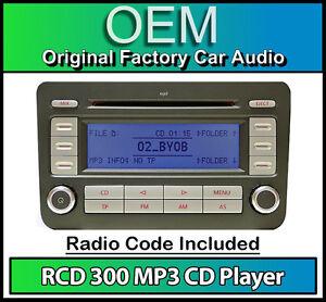 VW-RCD-300-MP3-CD-player-radio-Golf-Plus-car-stereo-head-unit-with-radio-code