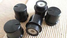 Set mit 4 schwarzen METALL KNÖPFEN (4 x Knopf) 6mm Achse Drehknopf für Poti