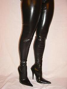 Latex Rubber Highs Boots Size 5 16 Heels 5 5 Poland