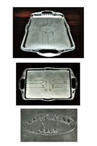 Kayserzinn-Jugendstil-Zinn-Tablett-Art-Nouveau-Pewter-Tray