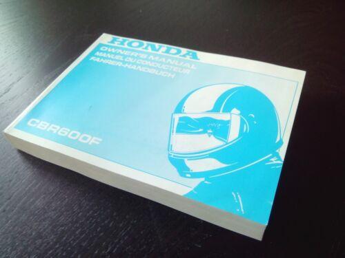 Honda CBR 600 F  CBR600F CBR600 1993 Owner/'s manual  Fahrer-handbuch