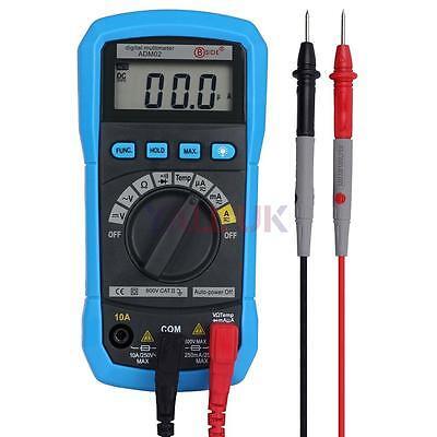 ADM02 Auto Ranging Digital Clamp Multimeter Temperature Meter AC DC Current Test