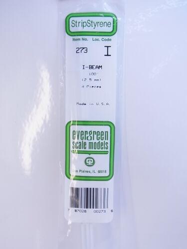 Modellbau NEU OVP 12944Evergreen Scale Models 273 I-Profil 2,5 mm 4 Stk