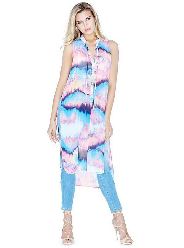 MARCIANO BY GUESS REFLECTION PRINTED TUNIC  Größe  SMALL